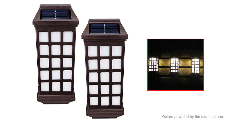 Solar Powered LED Wall Light Garden Fence Path Landscape