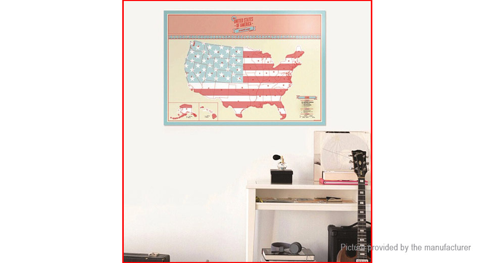 Scratch Off Usa Travel Map Poster