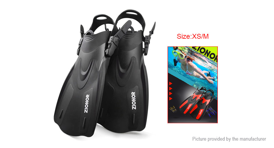 ZIONOR F2 Full Foot Snorkel Flippers Diving Snorkeling Swimming Fins (Size XS/M)