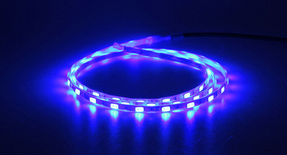 12W 60*5730 1200LM Blue Light LED Strip Light (100cm)