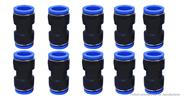 HYD PU Union Straight Fitting Pneumatic Tube Joint (10-Pack)