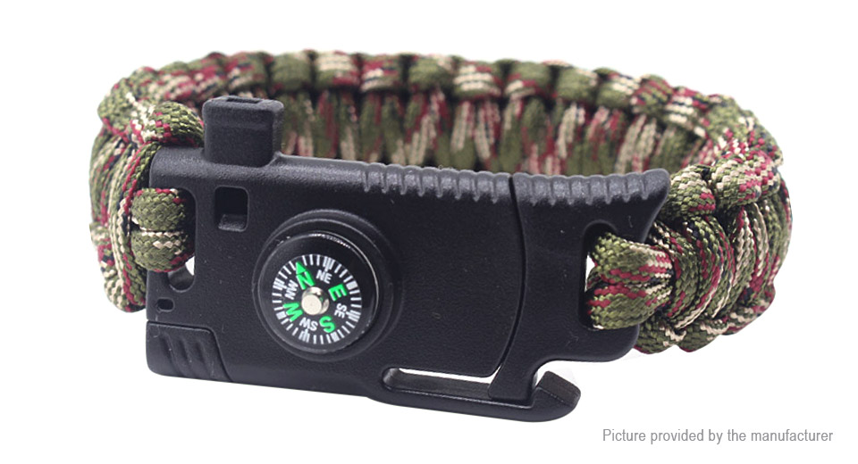 Multifunctional Outdoor Survival Emergency Paracord Bracelet