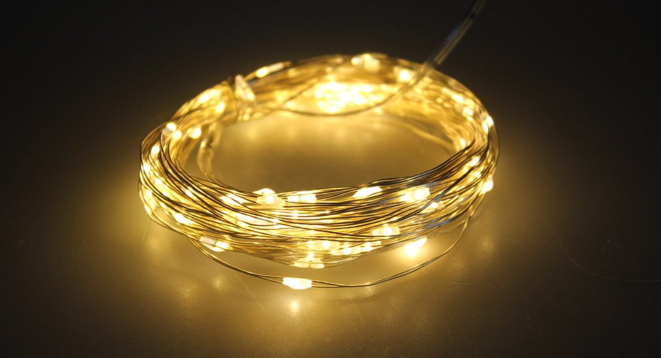 100*LED USB Silver Wire Decorative String Fairy Light (10m)