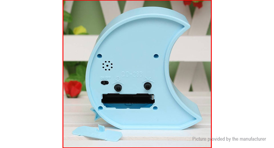 Creative Moon Shaped Cartoon Mute Alarm Clock