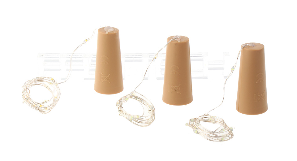 15*LED Silver Wire LED String Light (3-Pack)