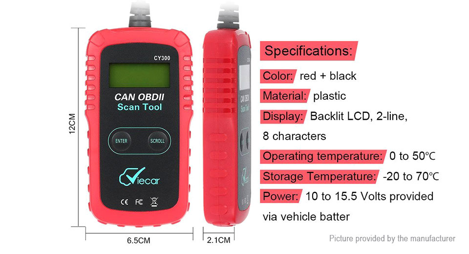 Viecar VC300 Car OBDII Code Reader Scanner Diagnostic Tool