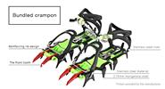 BRS BRS-S5A Outdoor Hiking Climbing Crampon Ice Cripper (Pair)