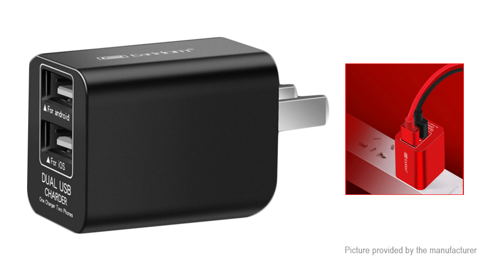 Product Image: earldom-es-162-dual-usb-wall-charger-power