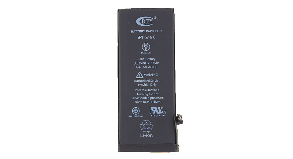 Product Image: bty-3-82v-1810mah-rechargeable-li-ion-battery-for