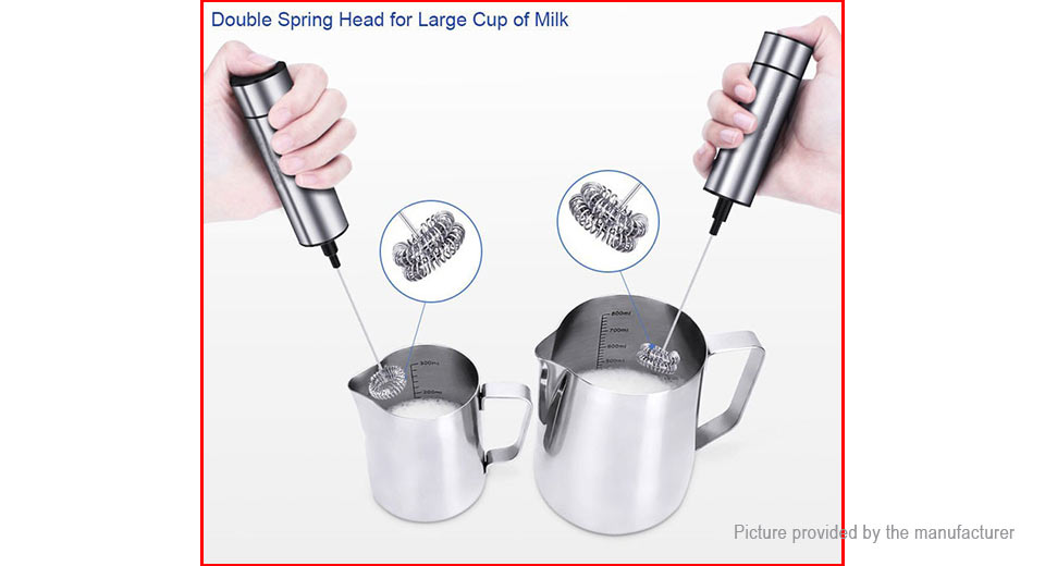 Portable Stainless Steel Electric Milk Frother