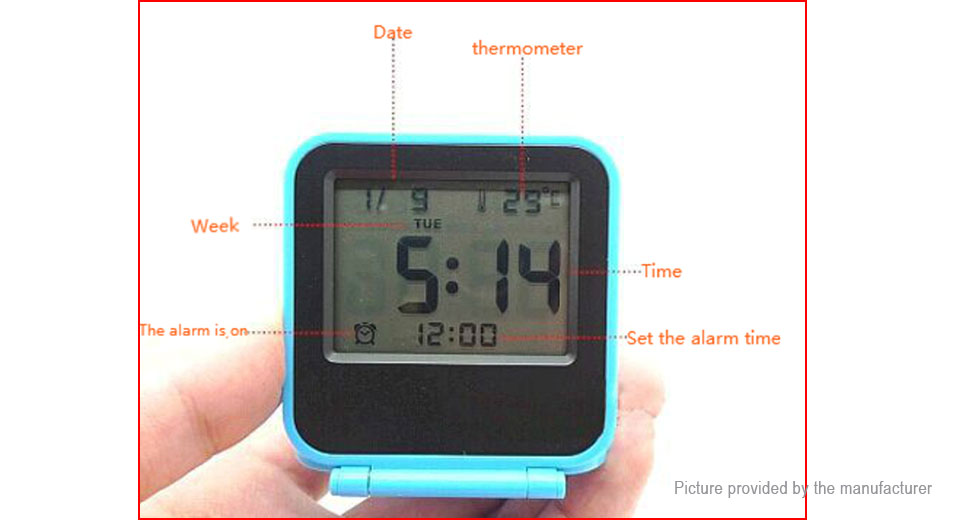 Multi-functional Mini LCD Projection Digital Alarm Clock