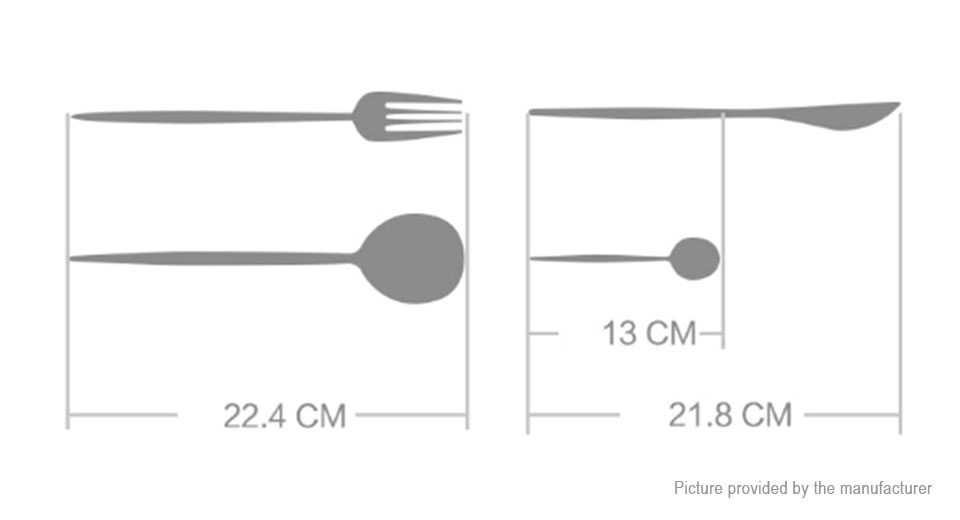Authentic Xiaomi MiJia 4-in-1 Stainless Steel Spoon + Knife + Fork Tableware Set