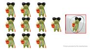 3D Frog Styled Car Decoration Decal Stickers (10-Pack)