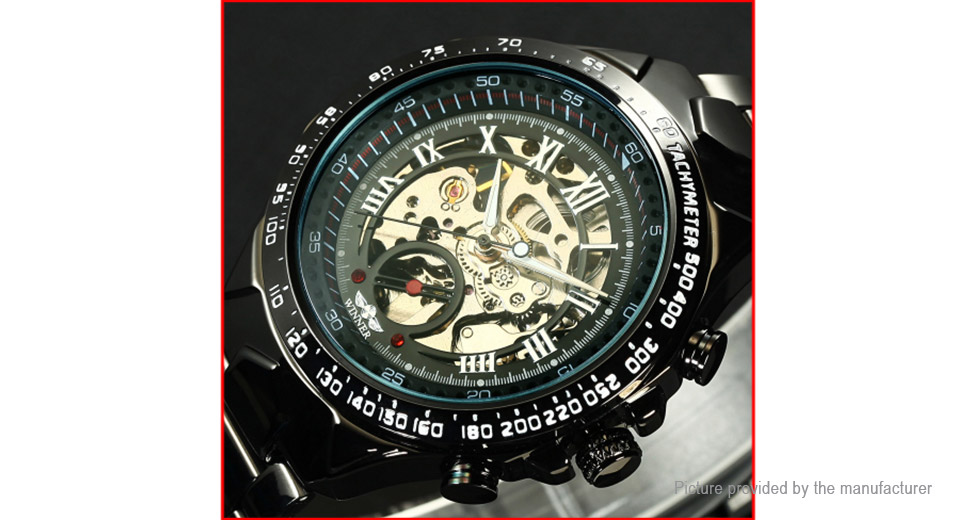 Winner SY-WIN016 Men's Alloy Band Automatic Mechanical Wrist Watch