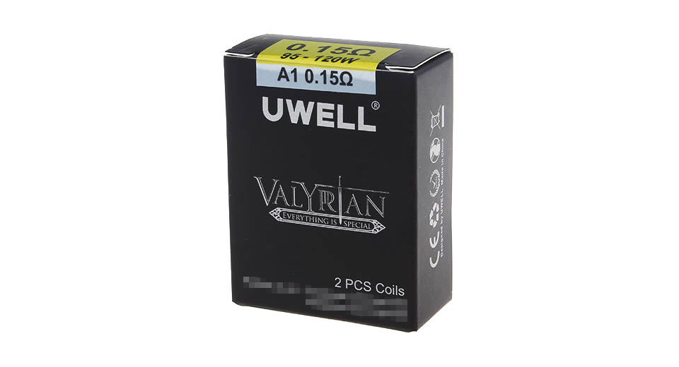 Authentic Uwell Valyrian Clearomizer Replacement Coil Head (2-Pack)