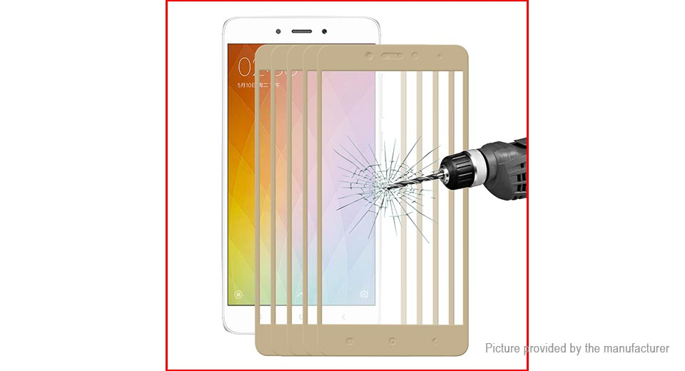 Hat.Prince 2.5D Tempered Glass Screen Protector for Xiaomi Redmi Note 4 (5-Pack)
