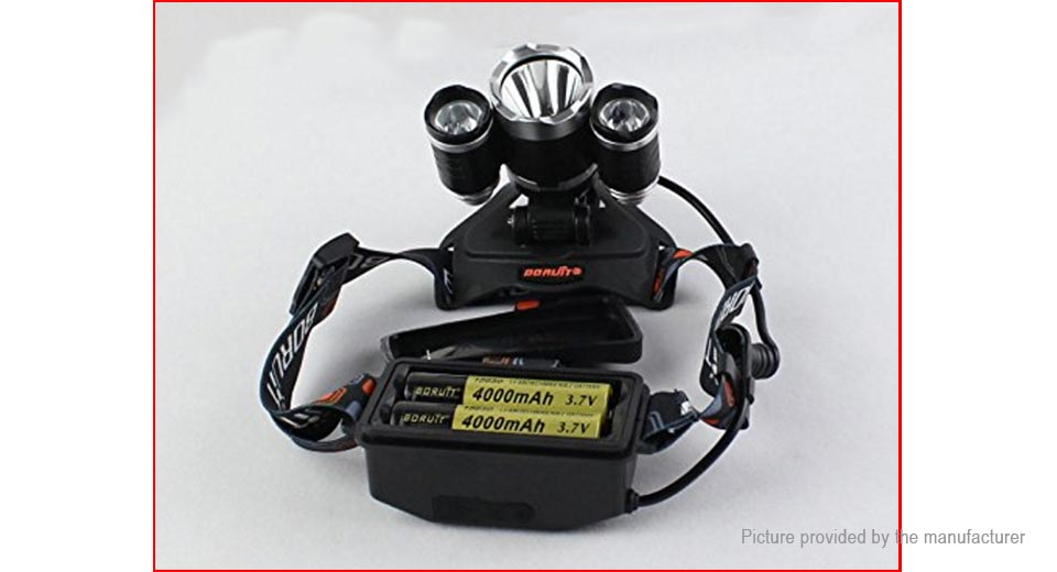 BORUiT RJ-5000 Triple Head LED Headlamp Gift Set