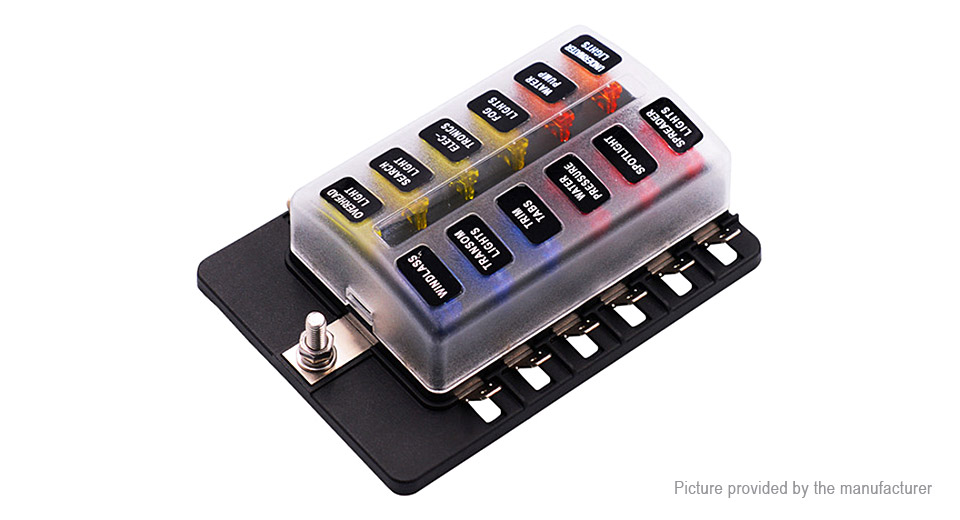 8658400 7 $15 00 12 way automotive car blade fuse box block holder w led fuse box automotive at eliteediting.co