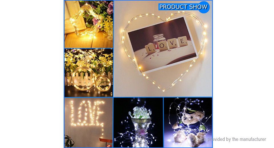 USB Powered LED String Fairy Light Wedding Christmas Decor (10m)