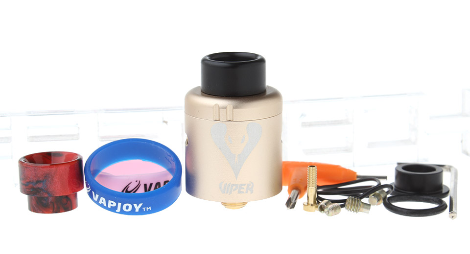 $9.83 Authentic Vapjoy Viper BF RDA Rebuildable Dripping Atomizer - stainless steel + aluminum / 24mm diameter at FastTech - Great Gadgets, Great Prices