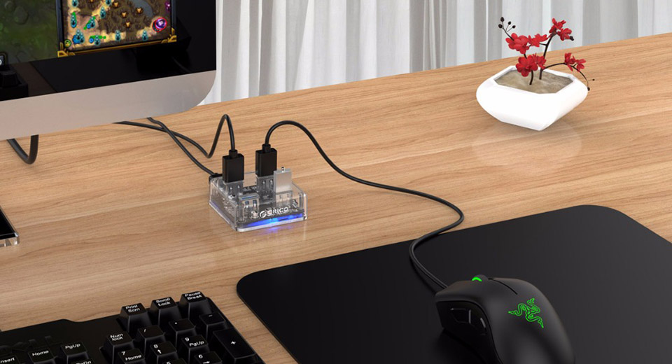 Authentic ORICO MH4U-U3 Micro-USB to 4-Port USB 3.0 Hub