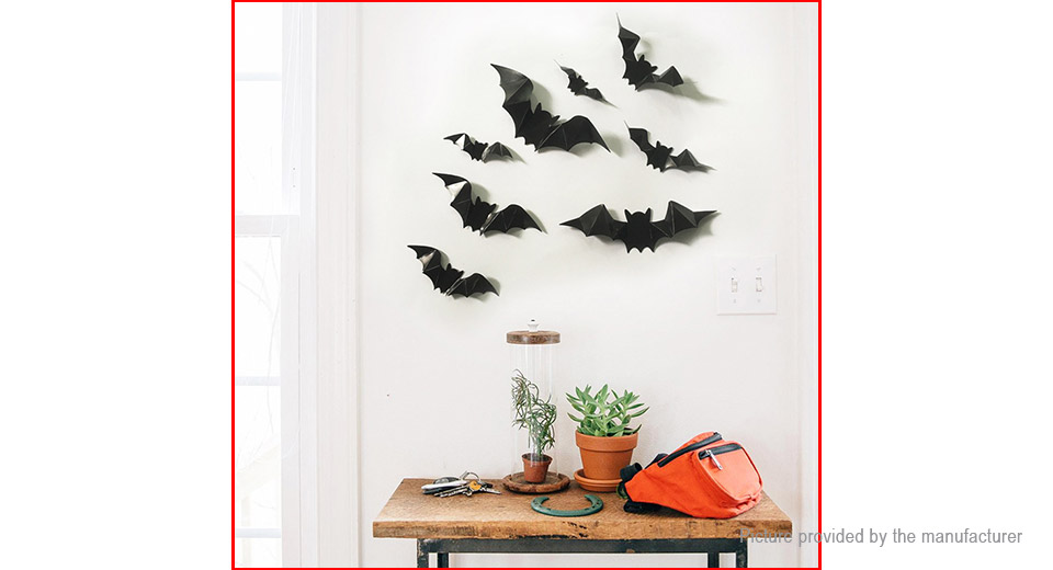 3D Bat Styled Bedroom Home Background Wall Decor Sticker