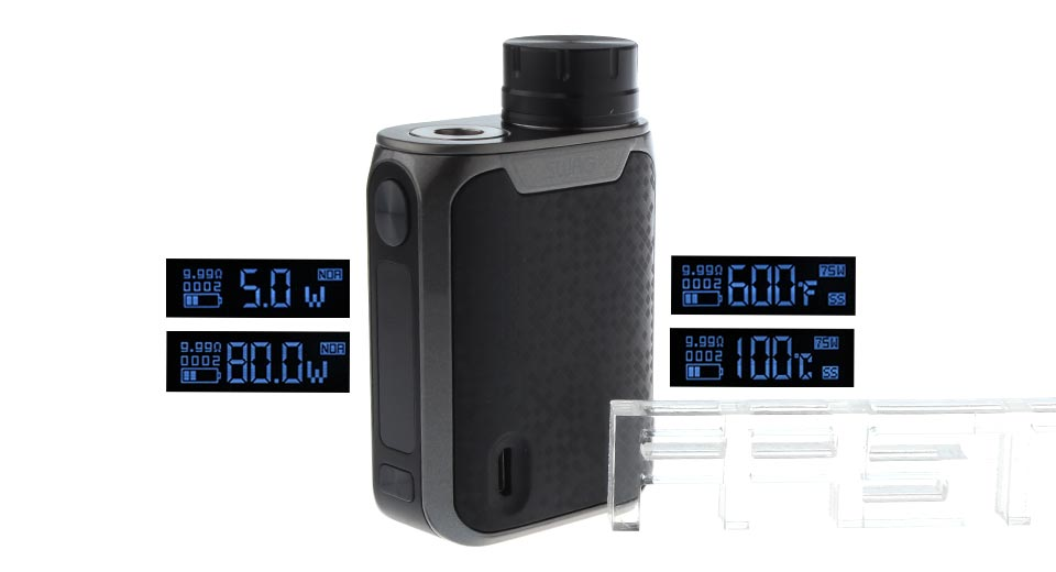 Authentic Vaporesso Swag 80W TC VW APV Box Mod