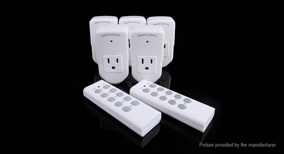 $30.59 Wireless Remote Control Electrical Outlet Switch (US) - 5 ...