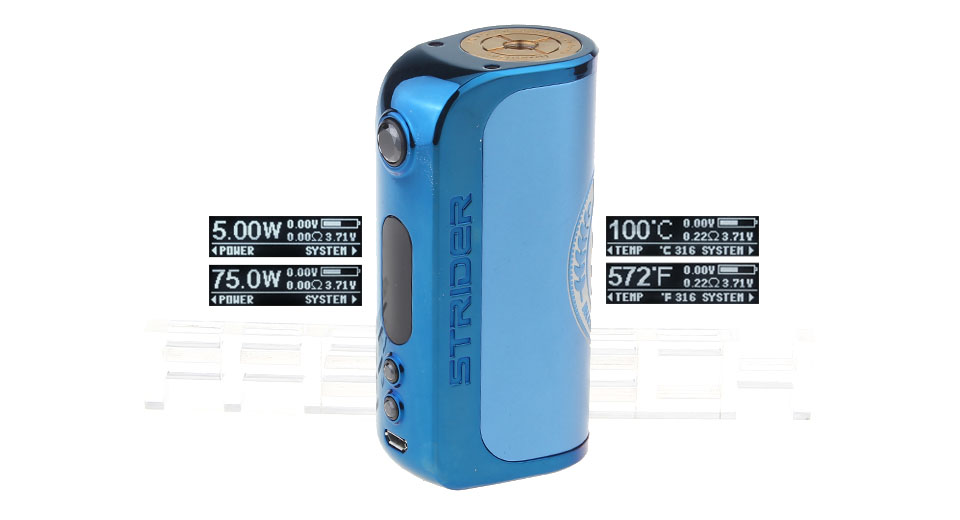 Product Image: authentic-asvape-strider-75w-tc-vw-apv-box-mod