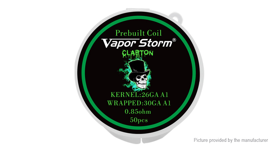 $4.05 Authentic Vapor Storm Kanthal A1 Clapton Pre-Coiled Wire (50 ...