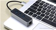 Vention VAS-J44-B 4-Port USB 3.0 Hub + RJ45 Gigabit Ethernet Network Adapter