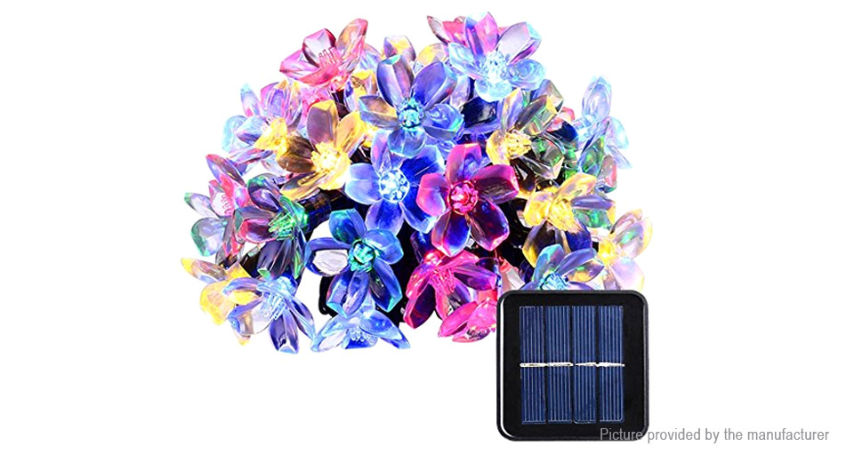 Peach Blossom Styled Solar Powered 50*LED Christmas Decorative String Light (7m)