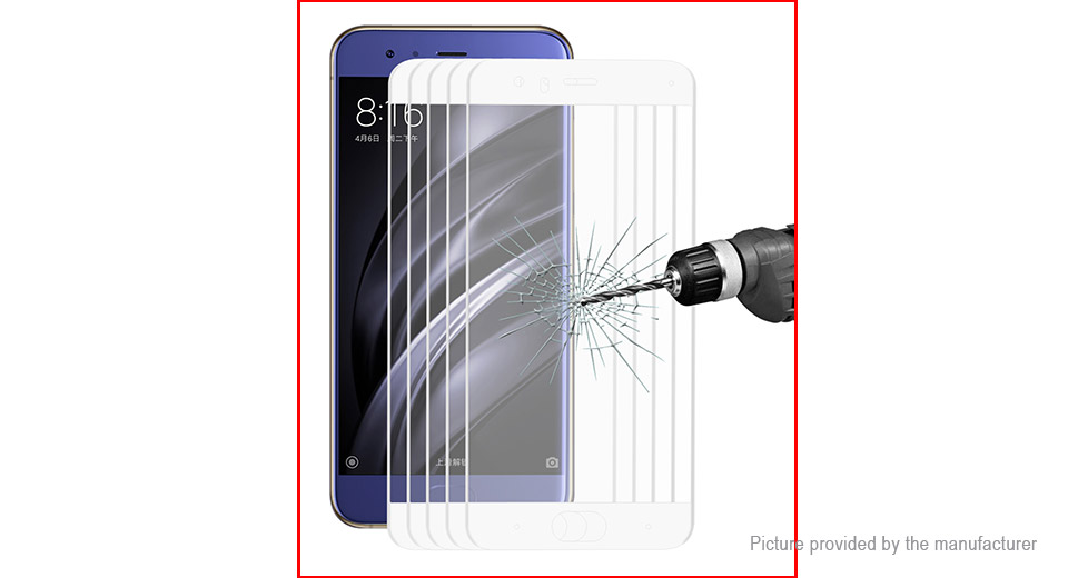 Hat.Prince 3D Tempered Glass Screen Protector for Xiaomi Mi 6 (5-Pack)