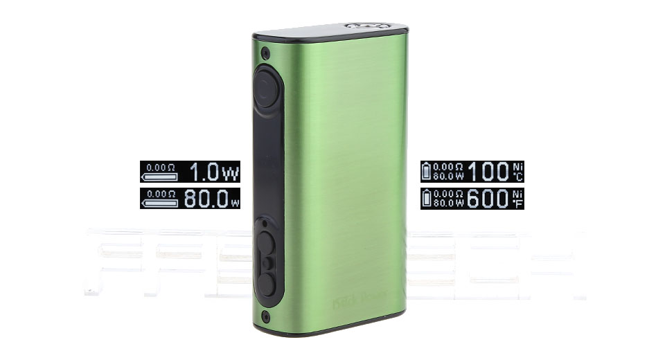Authentic Eleaf iStick Power 80W 5000mAh TC VW APV Mod (Brushed Green)