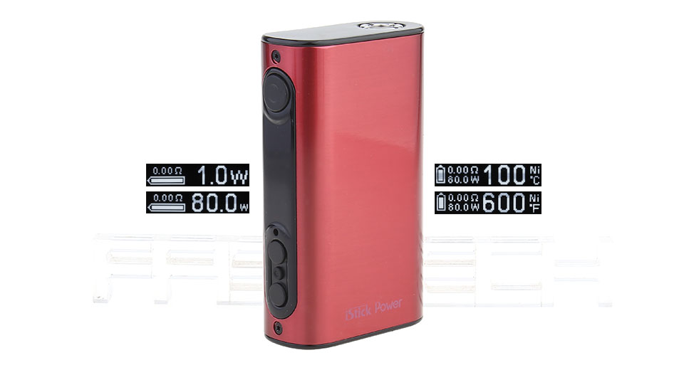 Authentic Eleaf iStick Power 80W 5000mAh TC VW APV Mod (Brushed Wine)