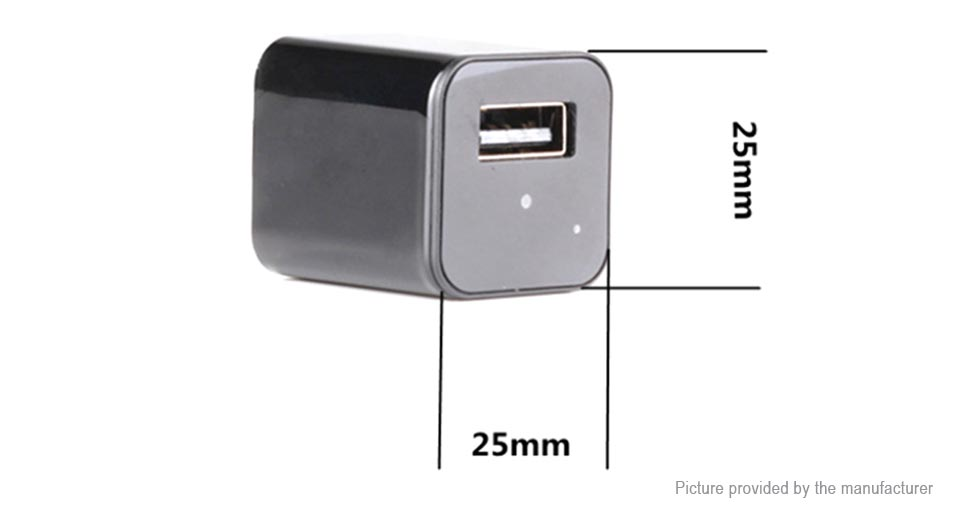 M1S 2-in-1 1080p Hidden Spy IP Camera USB Wall Charger (EU)