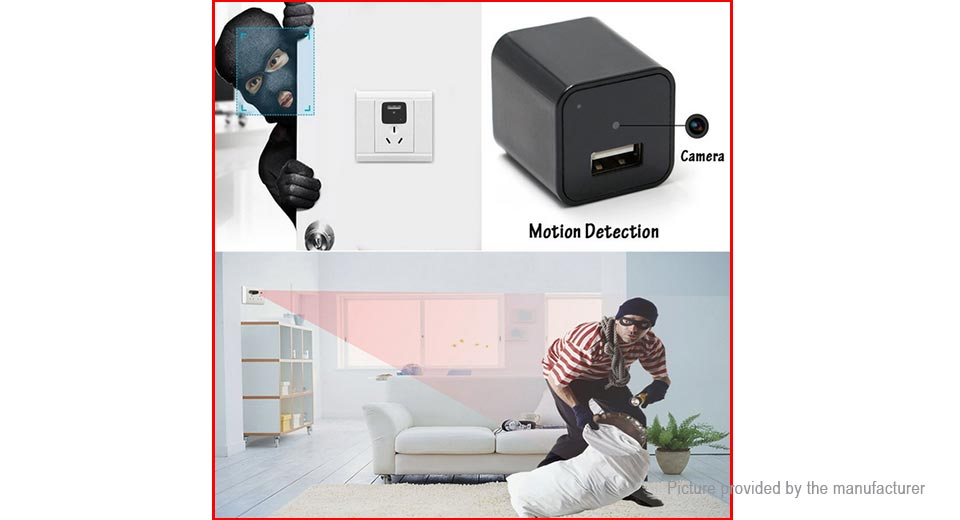 M1 2-in-1 1080p Hidden Spy Camera USB Wall Charger (EU)