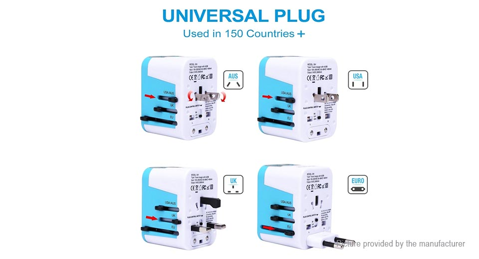 JY-304 4-Port USB AC Travel Charger Power Adapter