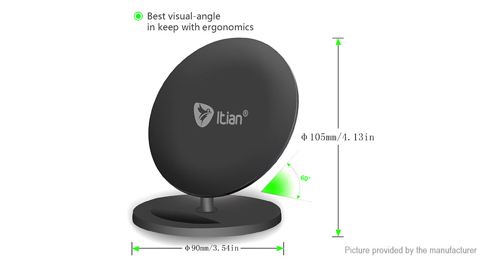 Itian Q8 10W Qi Inductive Wireless Charger Transmitter