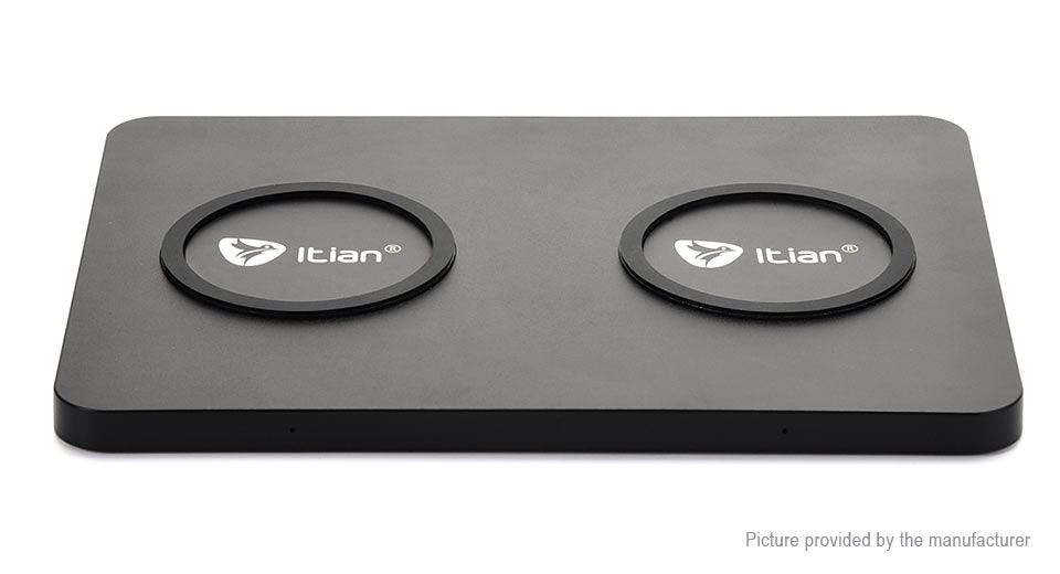 Itian Q300 5W Qi Inductive Dual Wireless Charger Pad Transmitter