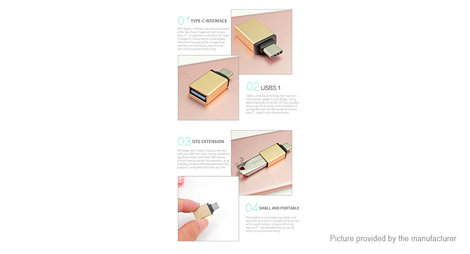 POFAN USB Type C to USB 3.0 OTG Converter Adapter