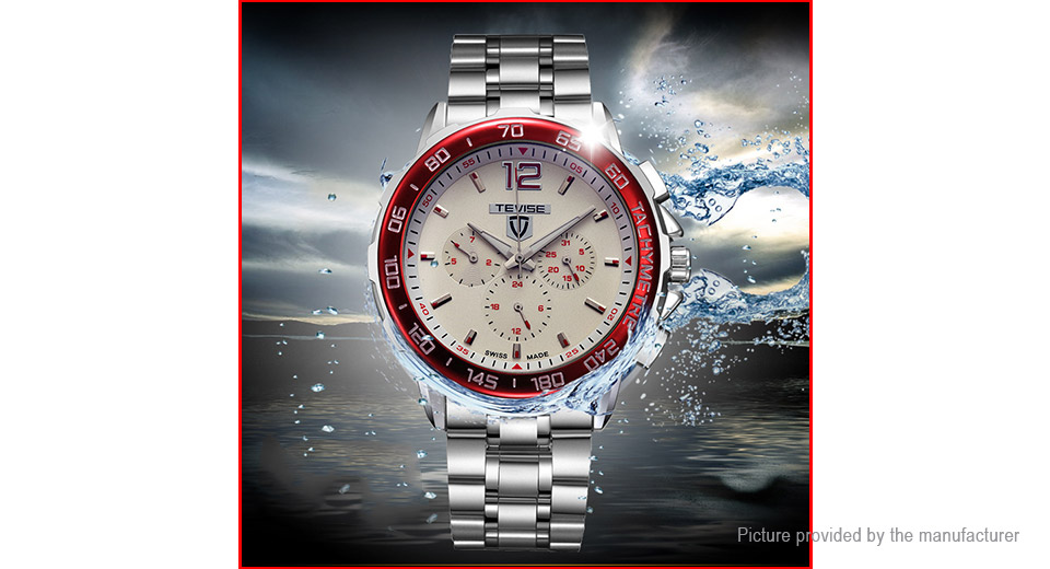 TEVISE 356 Unisex Stainless Steel Band Automatic Mechanical Wrist Watch