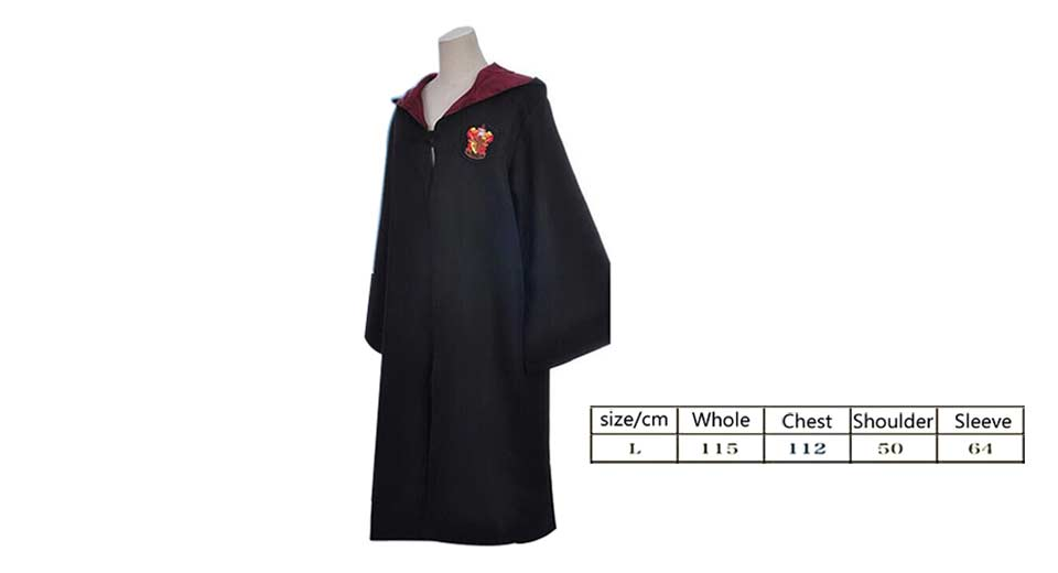 $4.72 Adult Harry Potter Robe Magic Gown (Size L) - suitable for 170 ...