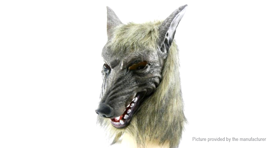 Scary Wolf Head Full Face Mask Halloween Party Masquerade Mask
