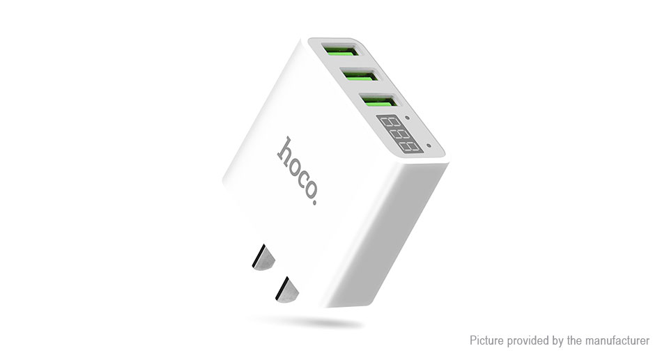Product Image: authentic-hoco-c15-3-port-usb-wall-charger-power