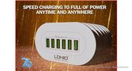 LDNIO A6702 6-Port USB Travel Charger Power Adapter (UK)