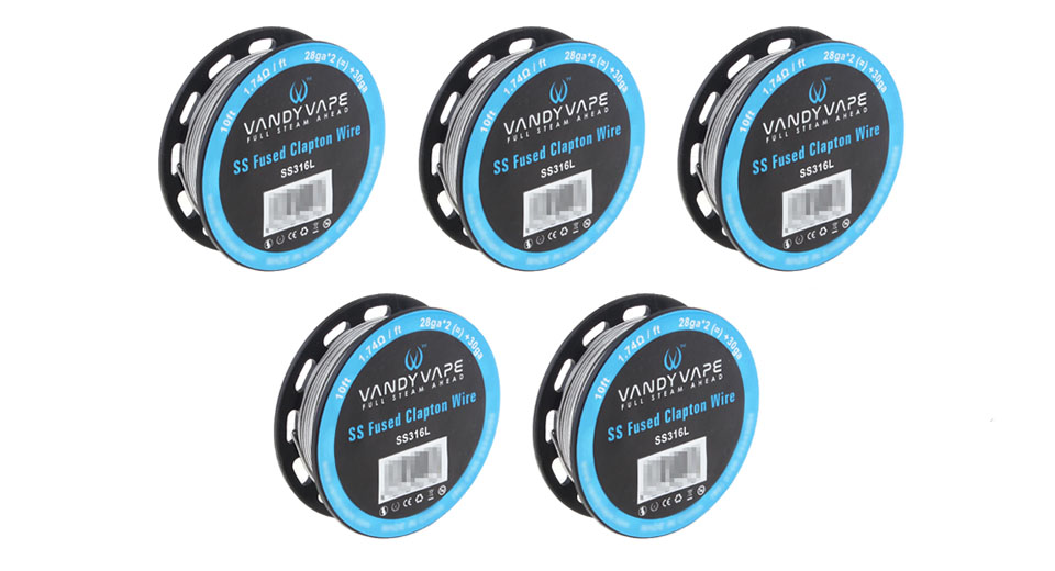 $20.23 Authentic Vandy Vape 316L Stainless Steel Fused Clapton ...