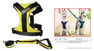 Ondoing Pet Dog Harness Walking Lead Leash Set (Size S)