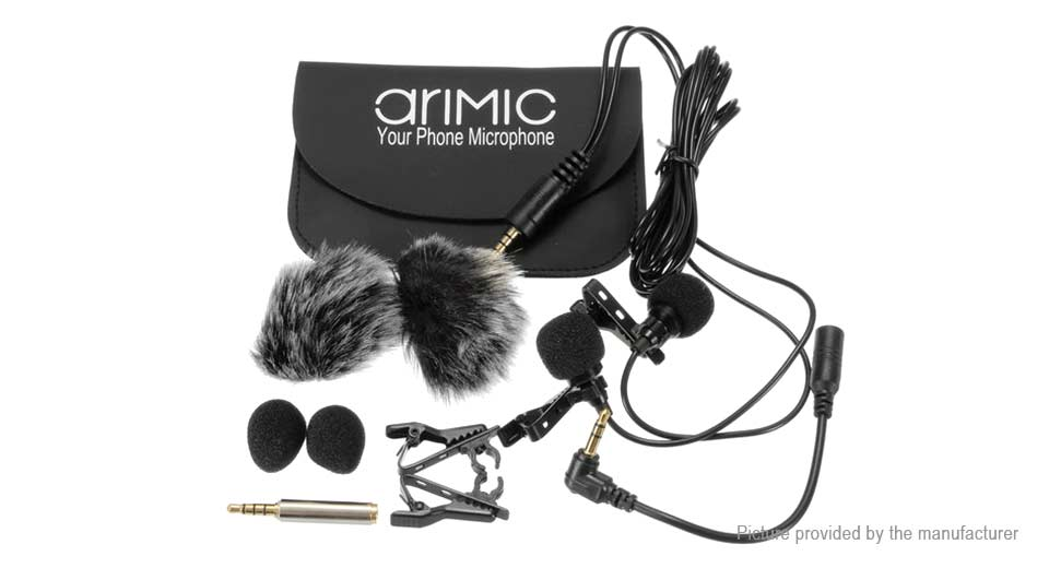 Product Image: arimic-dual-head-clip-on-lapel-microphone