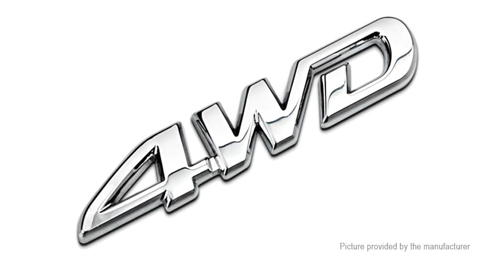 4WD Character Styled Car Decoration Decal Sticker (2-Pack)